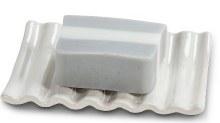 Ridged Soap Dish White