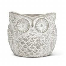 Textured Owl Planter Small