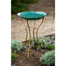 Ceramic Birdbath with Stand