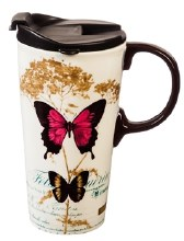 Butterfly Ceramic Cup