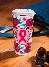 Floral Ribbons Ceramic Mug