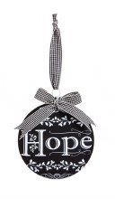 Glass Disc ornament Hope