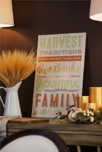 Harvest Wooden Mantel Sign