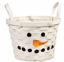 Snowman Basket Large