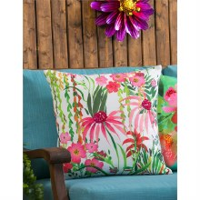 Outdoor Floral Print Pillow