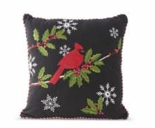 Cardinal Embroidered Pillow