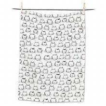 Tea Towel Funny Cat Faces