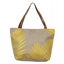 Beach Bag with Palm Leaves