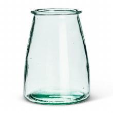 Glass Hurricane Wide Base