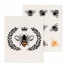 Bee Dish Cloths Set/2