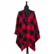 Buffalo Check Cape/Poncho