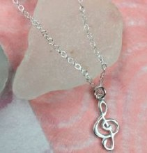 Note pendant w/necklace set