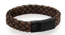 Brown Leather Clasp Bracelet