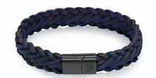 Blue Leather Bracelet