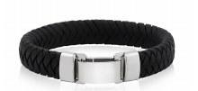 Italian Leather Steel Bracelet