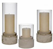 Cement Base Candleholder Large