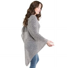Cozy Diamond Poncho Stone