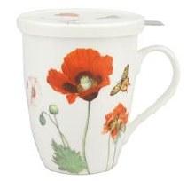 Poppies Tea Mug with lid