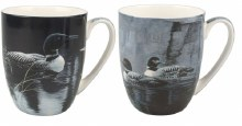 Bateman Loons Mug Pair