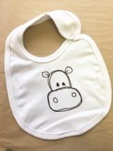 Hippo bib white sm
