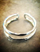 Double Band Midi Ring
