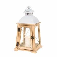 Lantern - Beach wood & glass