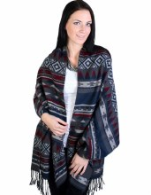 Aztec Striped Cape