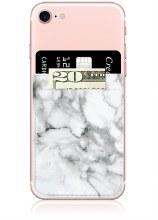 White Marble Phone Pocket