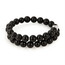 Beaded Gemstone Wrap, Onyx RS
