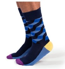 Blue Steel Crew Socks