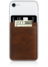 Brown FauxLeather Phone Pocket