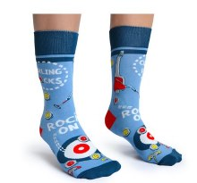 Curling Rocks Crew Socks
