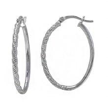 Beveled Hoop Earrings
