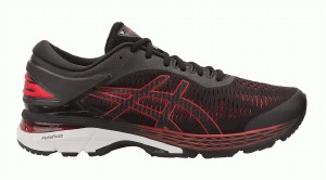 Gel Kayano 25 Black Red 11