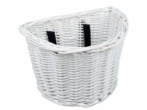 Basket Kids Wicker White Front