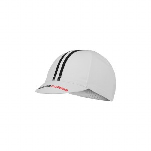 Rosso Corsa Cycling Cap White