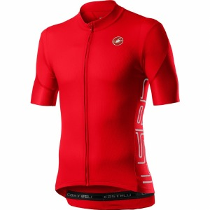 Entrata V Jersey Fiery Red M