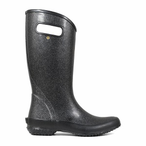 Rainboot Glitter Black 6