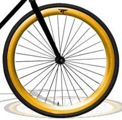 Fixie ens. roues gold