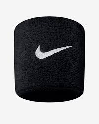 Swoosh Wristband Black/White