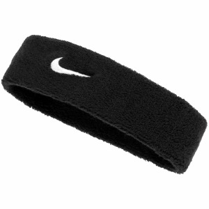 Swoosh Headband Blck/White