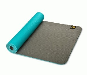 TPE Eco Yoga Mat Turquoise/Roc