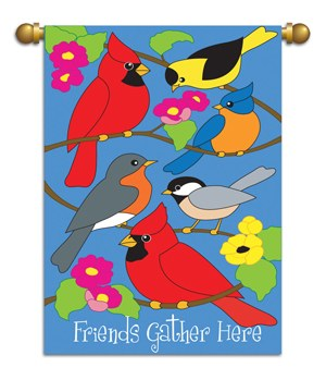 GARDEN FLAG FRIENDS GATHER