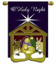 GARDEN FLAG X-MAS HOLY NIGHT