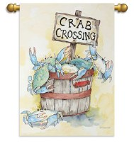 GARDEN FLAG CRAB CROSSING