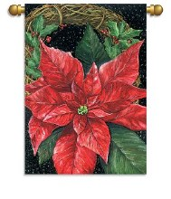 HOUSE FLAG POINTSETTIA WREATH