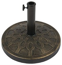 128   UMBRELLA BASE 17.6LB BRONZE