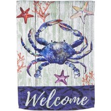 HOUSE FLAG WELCOME CRAB