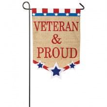 GARDEN FLAG VETERAN & PROUD
