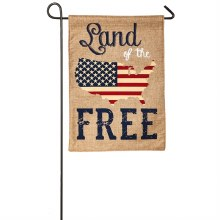 GARDEN FLAG LAND OF THE FREE